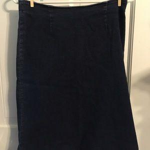 Gap Jean Skirt with Ruffle Bottom